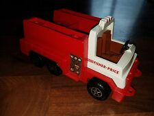Vintage Fisher Price Husky Helpers Red Little Pumper Fire Truck Vehicle!! 1983