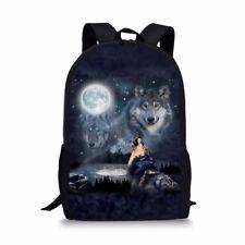 Cool Wolf Unicorn Men Boys Backpack Anti theft Rucksack Shoulder School Bag Gift