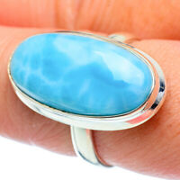 Larimar 925 Sterling Silver Ring Size 8.5 Ana Co Jewelry R38244F