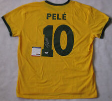 PELE Hand Signed  Brazil Soccer Shirt + PSA DNA COA  * BUY 100% GENUINE PELE *