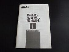 Original Bedienungsanleitung AKAI  M305W/L M305WR/L M310WR/L