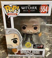 Funko Pop! Geralt (IGNI) The Witcher 3 Wild Hunt Gamestop Exclusive Glow In Dark