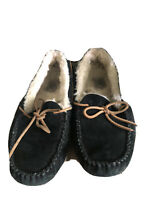 On Vacation! Ugg Australia Dakota Black Slippers Moccasins Womens Size 8