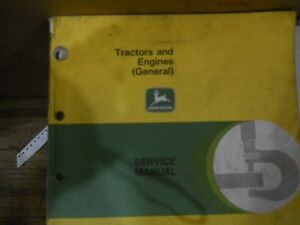 John Deere service manual for Tractors and Engines (General) #SM-2000