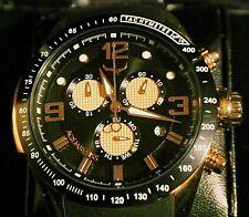 AQUASWISS Men's Trax 6H Rose Gold Day/Date Brand New Chronograph-List $1,750