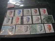 lot de timbres oblitérés de  SM Baudouin type Velghe
