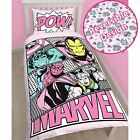 Marvel Comics Officiel Rose Pastels simple housse de couette et taie d'oreiller
