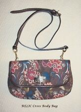 RELIC BRAND Dark Brown in FLORAL Design Mini Cross Body Bag  EUC