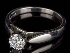 14 Carat Engagement White Gold SI2 Fine Diamond Rings