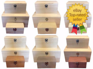 Personalised Engraved Painted and Plain Wooden Box Large and Small Trinket Boxes