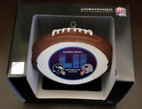 Super Bowl 52 LII Philadelphia Eagles New England Patriots CHRISTMAS ORNAMENT