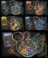Harry Potter Keyring Key Chain Official Hogwarts Houses Crest Noble Collection