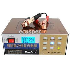 110V/220V Intelligent Pulse Repair Car Lead Acid Battery Charger 12V/24V 100AH