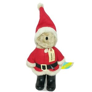 "Rare NWT VTG Eden Paddington Santa Claus Teddy Bear 1983 Christmas Plush 19"""