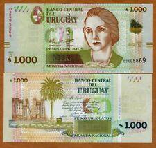 Uruguay, 1000 Pesos Uruguayos, 2015 (2017), P-New, serie E, New Security UNC