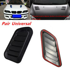 2x Car Decorative Air Flow Scoop Turbo Bonnet Vent Cover Hood Fender Distinctive
