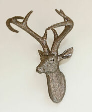 8217 Arthouse Diamante Star Studded Bling Stag Stags Deer Head PEWTER wall art