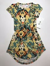 Lularoe Disney Pocahontas Kid's Mae Dress Pockets ~size 2~ Yellow Green Orange