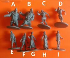 9x zombies Zombicide games boardgame spare part black plague figures kickstarter