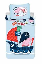 Peppa Pig George Pirate Reversible Duvet Cover Set 100% Cotton