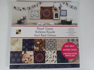 DCWV Royal Gypsy 12x12 Scrapbook Cardstock 48 Sheets (Sb1)
