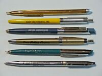 Vintage Lot of 6 Advertising Ball Point Pens Michigan Companies