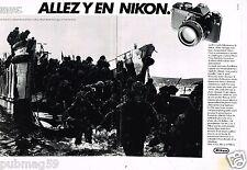 Publicité advertising 1984 (2 pages) Appareil Photo Canon FE2 par John Shirley