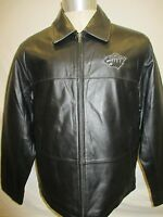 Minnesota Wild Men's Small Full-Zip Authentic Leather Jacket NHL Black