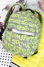 MISS GRANT großer pfiffiger Rucksack*Tasche* Neongelb-Silber ♥ TOP