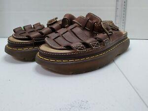 Dr. Martens Brown Leather Buckle Strap Fisherman Sandals 8092 Men US 12 UK 11