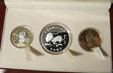 2008 Taiwan China Silver Year of Mouse & Bi-metallic Coins (Taiwan Bank issue)