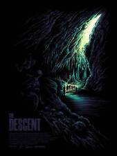 THE DESCENT OFFICIAL LIMITED EDITION POSTER SCREEN PRINT BY DAN MUMFORD