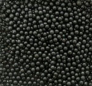Black 4mm Edible Sugar Pearls/ Dragée Balls - 50g