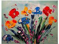 MODERNIST EXPRESSIONIST Abstract Modern FLOWERS   by  Mark Kazav  LSDVrge