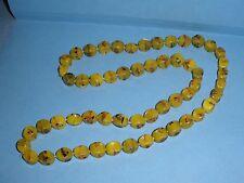 Vtg Lamp Work Apple Green Bead Necklace Handmade w/Separators Unusual Shape #G15