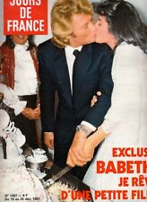 "MAGAZINE JOURS DE FRANCE DEC 1981  ""HALLYDAY / BABETH / VARTAN BECAUD BELMONDO"""