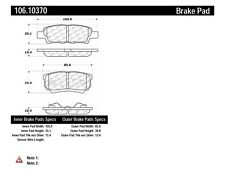 Disc Brake Pad Set Rear Centric 106.10370