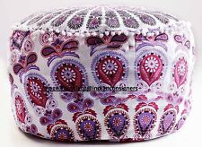 Colorful Beautiful Pink Color Flower Pattern Ottoman Cover Soft Wash 100%Cotton