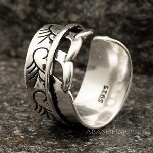 Silberring Silber 925 Ring  Verstellbar Offen Vintage R0614 💙