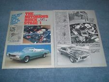 1968-'70 Buick GS Stage 1 Vintage History Info Article from 1987