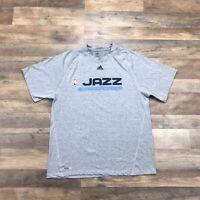 Utah Jazz Adidas Short Sleeve T-Shirt Men's Large NBA Polyester NBA Basketball