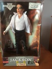 """Unused 12"""" Michael Jackson Doll Sings Black or White boxed from Triumph 1995"""