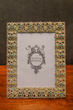 "Olivia Riegel Crystal ""Gold Fontaine"" 5x7 Photo Frame"