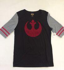 BNWT Disney Parks Star Wars Rebel Alliance Ladies Women's Shirt Top Sz M Black