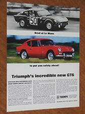 1968 Triumph GT6 original UK full page advertisement