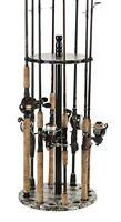 Organized Fishing Camo Round Floor Rack for Rod Storage