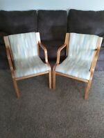 Mid Century Modern MCM Bentwood Knoll Stendig Set Of 2 Chairs