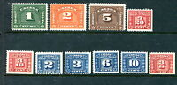10 different MNH Canada Revenue Stamps (Lot #RR86)
