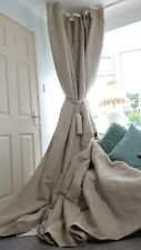 """NEW! Heavy 110"""" Wide 113"""" Long Natural 100%Irish Linen Cotton Lined Bay Curtains"""
