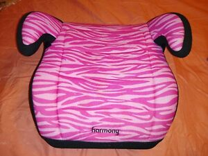 Harmony Pink Zebra Booster Car Seat